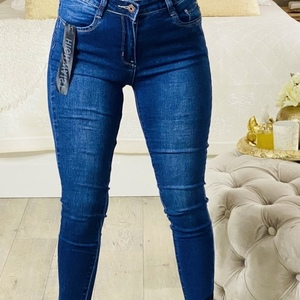 jeans avec dentelle vers le bas zigy