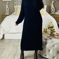 ROBE PULL LONGUE - chelsy noir